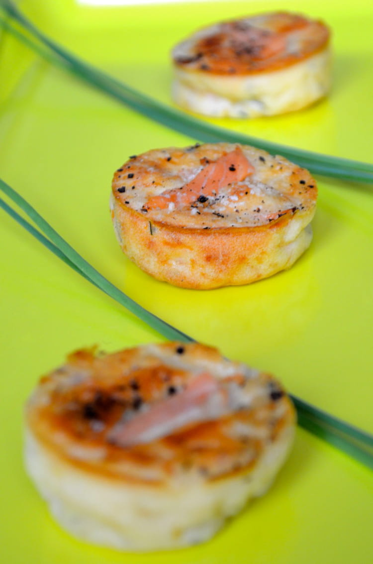 recette de petites bouch es ap ritives au saumon la recette facile. Black Bedroom Furniture Sets. Home Design Ideas