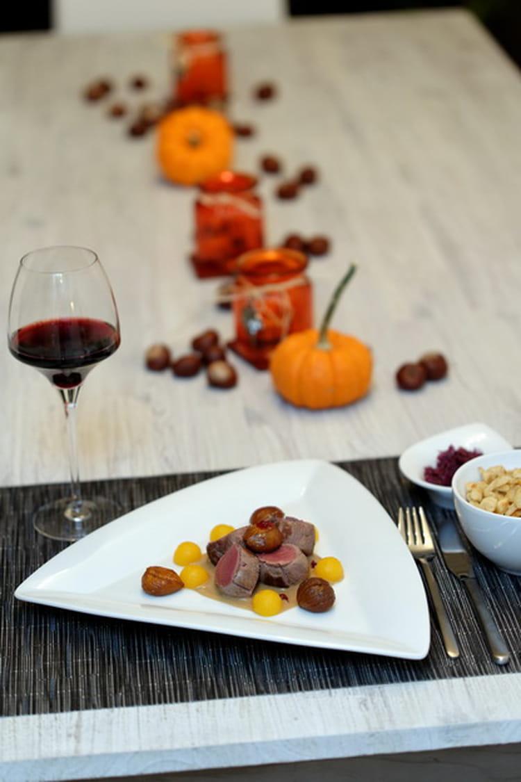 Recette de filet de cerf sauce aux ch taignes et f ve for Jardin facile cognac