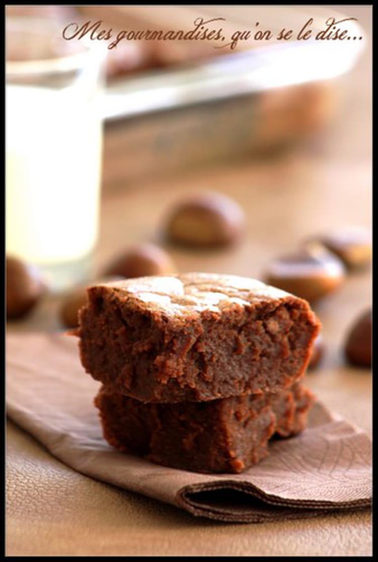 Recette fondant la cr me de marrons et chocolat g teau - Recette gateau chocolat creme de marron ...