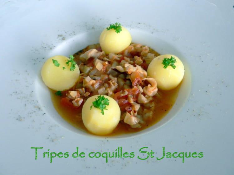 Recette de tripes de coquilles saint jacques la recette - Cuisiner des coquilles saint jacques ...