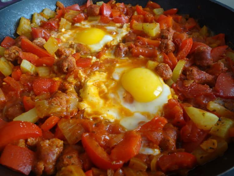 Recette de chakchouka aux merguez la recette facile - Cuisine tunisienne facile ...