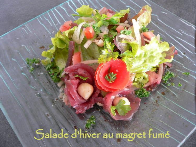 Recette de salade d 39 hiver au magret fum la recette facile - Variete de salade d hiver ...