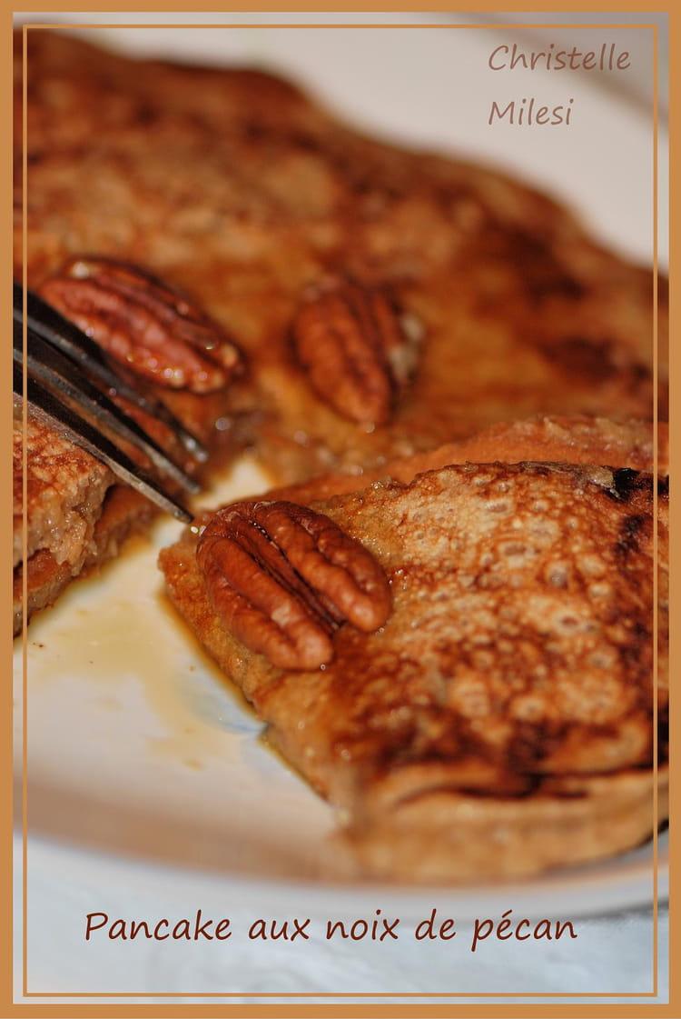 recette de pancakes aux noix de p can la recette facile. Black Bedroom Furniture Sets. Home Design Ideas