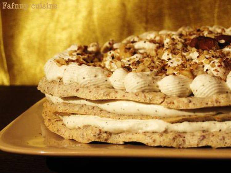 Recette de g teau meringu aux noisettes et au caf la recette facile - Recette de meringue facile ...