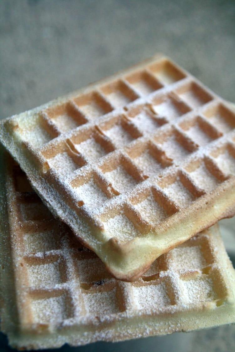 Recette de gaufres croustillantes sans beurre la recette - Recette de gaufre sans beurre ...