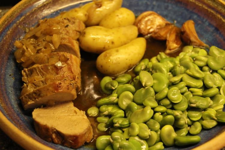 Recette de filet mignon aux f ves des marais la recette - Cuisiner feves fraiches ...