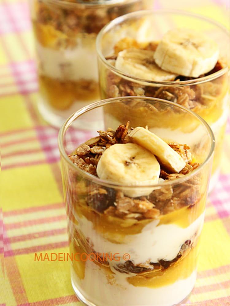 recette de dessert muesli yaourt coco et banane la recette facile