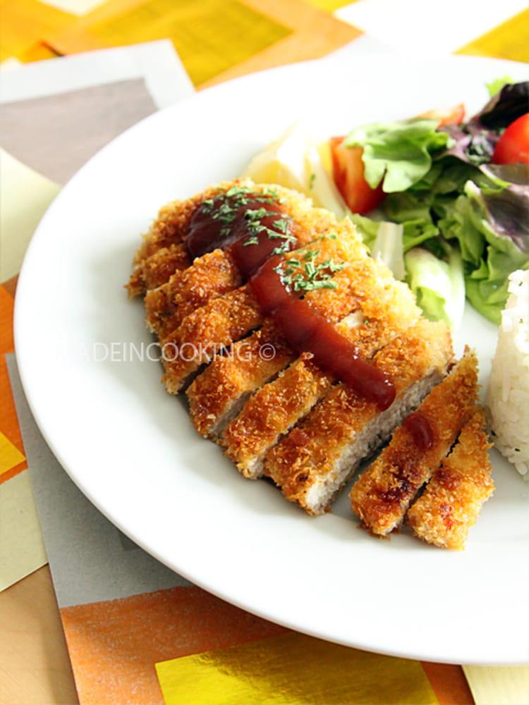 Recette de poulet katsu sauce tonkatsu la recette facile for Recette poulet