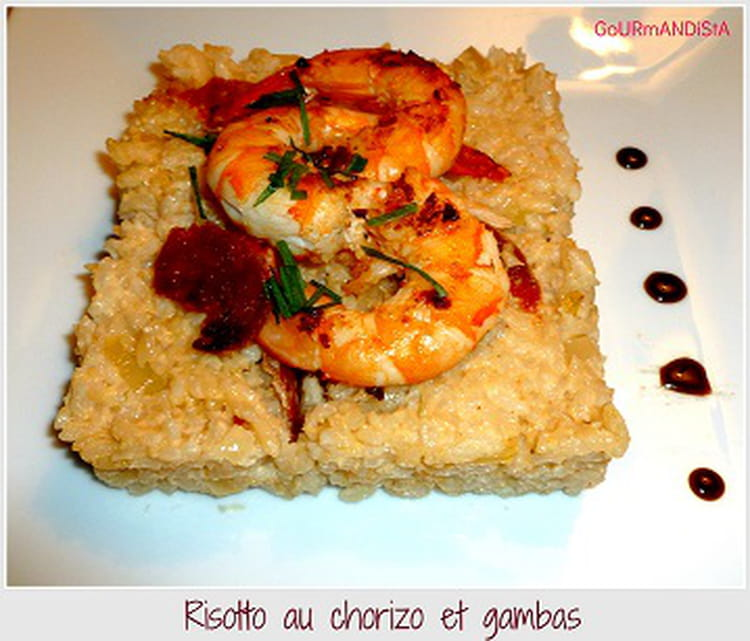 recette de risotto au chorizo et gambas la recette facile. Black Bedroom Furniture Sets. Home Design Ideas