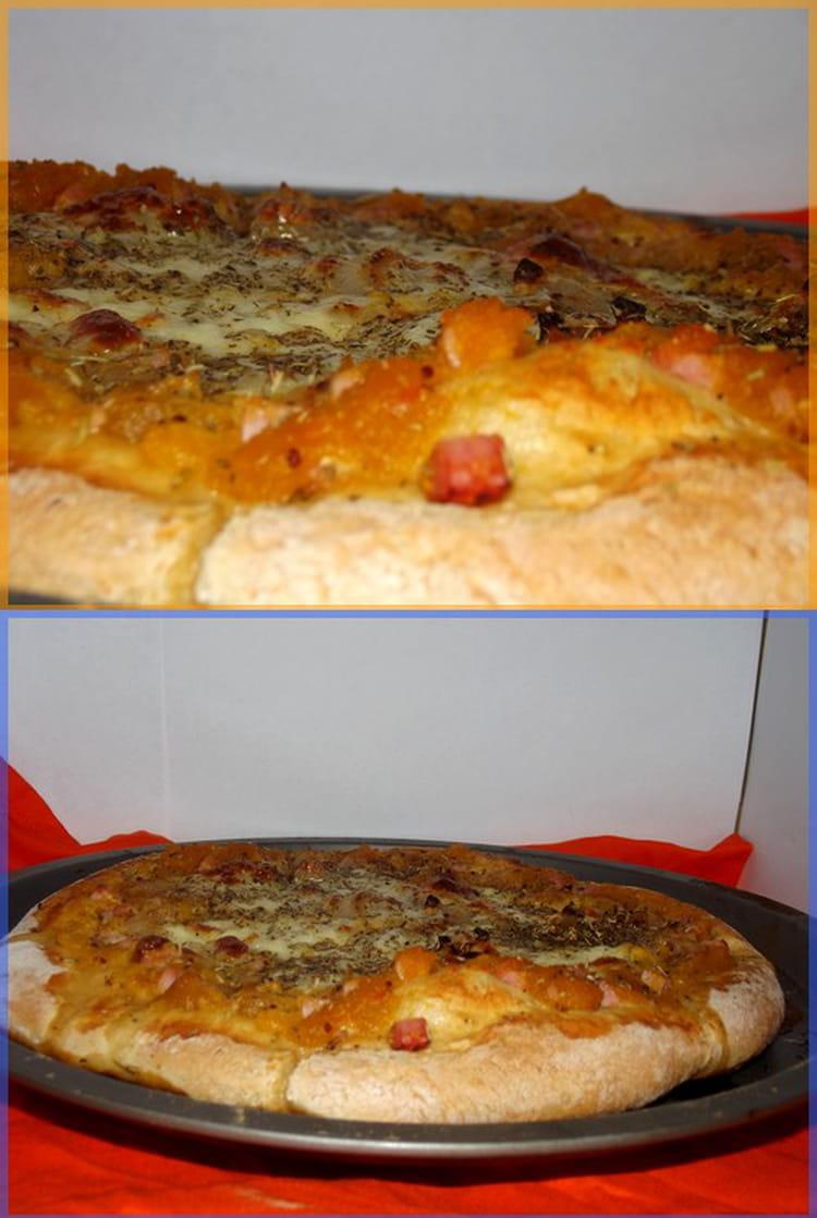 recette de pizza potiron jambon mozzarella la recette. Black Bedroom Furniture Sets. Home Design Ideas
