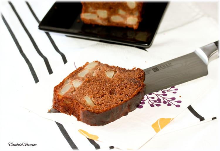 recette de cake poire chocolat au caramel et l 39 agave. Black Bedroom Furniture Sets. Home Design Ideas