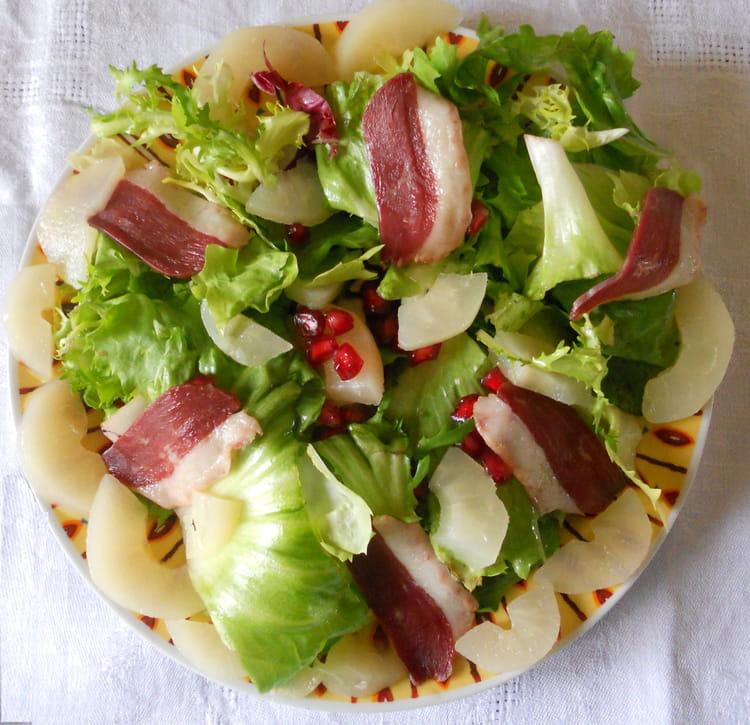 recette de salade gourmande express au magret de canard la recette facile. Black Bedroom Furniture Sets. Home Design Ideas