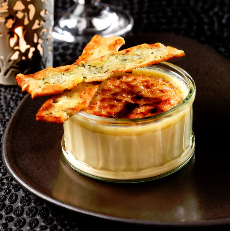 cr me br l e au foie gras et sauternes la recette facile. Black Bedroom Furniture Sets. Home Design Ideas