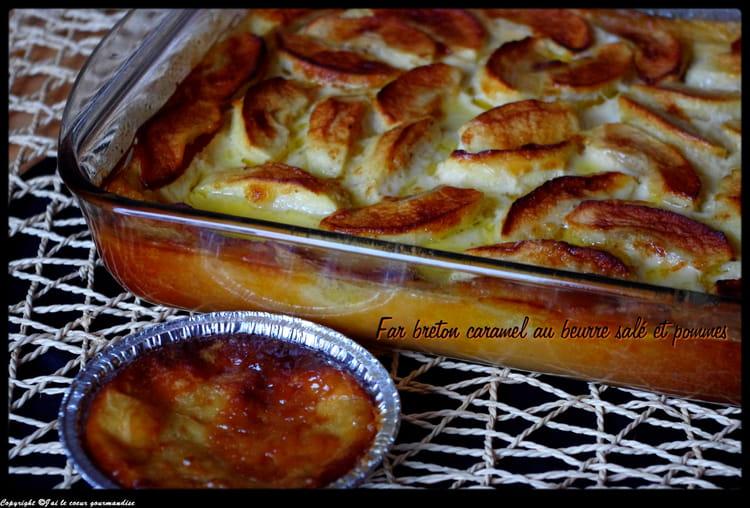 Recette de far breton caramel beurre sal et pommes la - Recette caramel beurre sale breton ...