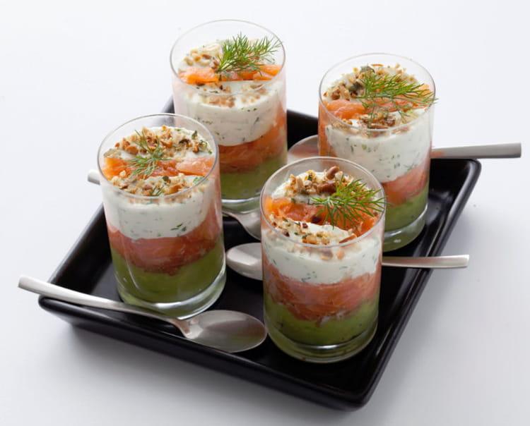 recette verrine d'avocat au saumon fume