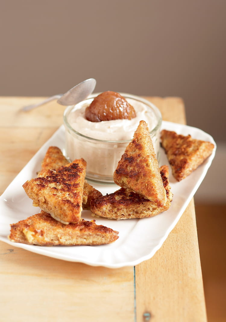 Recette de pain retrouv mousse la cr me de marron la recette facile - Mousse a la creme de marron ...
