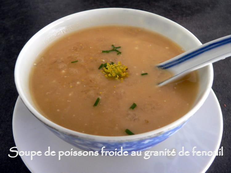 recette de soupe de poissons froide au granit de fenouil la recette facile. Black Bedroom Furniture Sets. Home Design Ideas