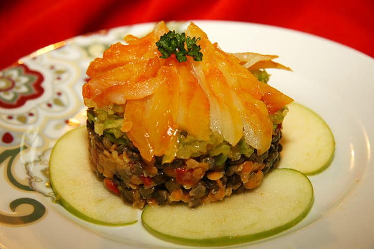 recette de salade de haddock aux lentilles et pommes vertes la recette facile. Black Bedroom Furniture Sets. Home Design Ideas