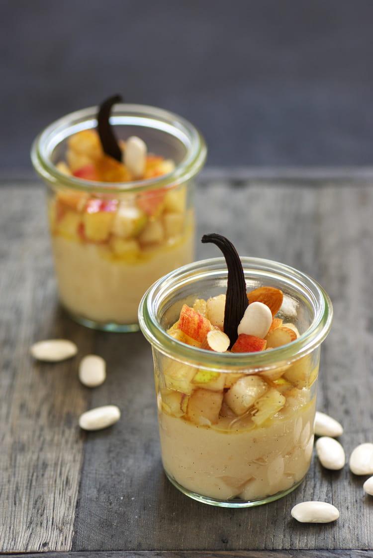 Recette de verrines de cr me de haricots tarbais poires - Maison de la pomme et de la poire ...