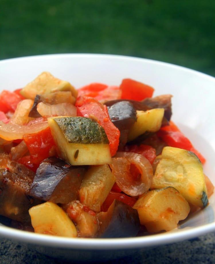 Ratatouille au piment d espelette la recette facile - Cuisiner la ratatouille ...