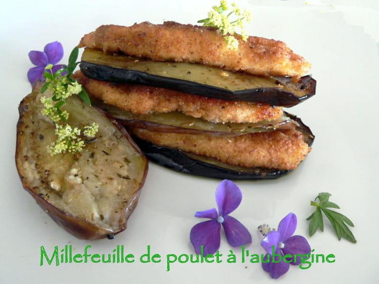 Recette de millefeuille de poulet l 39 aubergine la - Cuisiner l aubergine facile ...