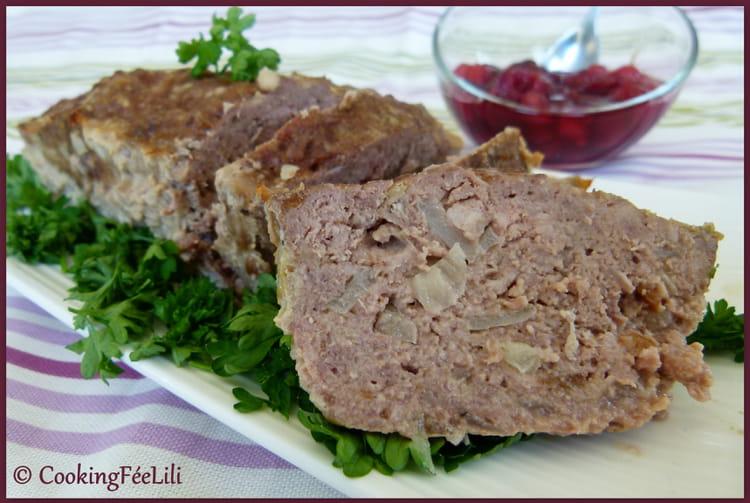 recette de pain de viande sauce aux cerises la recette facile. Black Bedroom Furniture Sets. Home Design Ideas