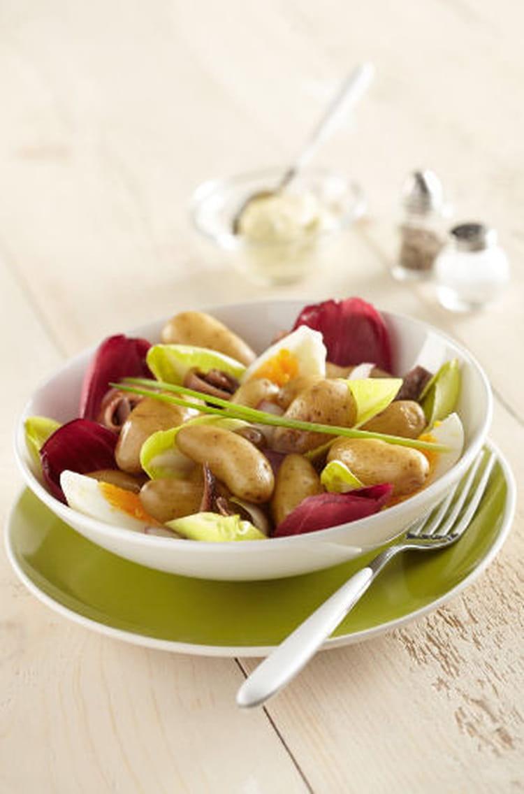 Recette de salade estivale de ratte du touquet aux endives la recette facile - Cuisiner la ratte du touquet ...