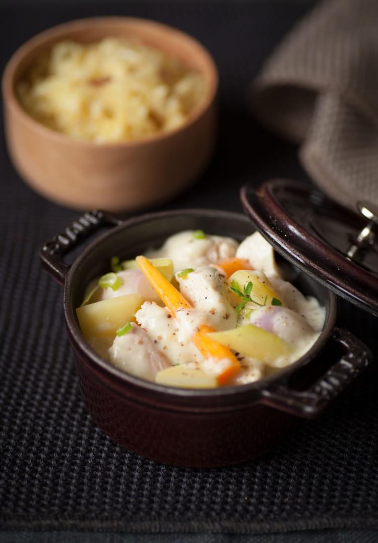 Recette de blanquette de volaille l gumes d 39 automne et - Cuisiner du riz blanc ...