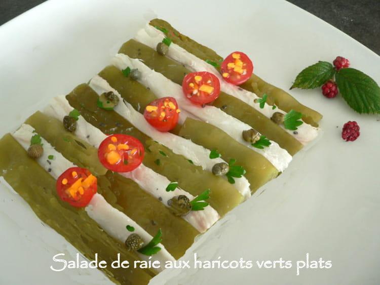 recette de salade de raie aux haricots verts plats la recette facile. Black Bedroom Furniture Sets. Home Design Ideas