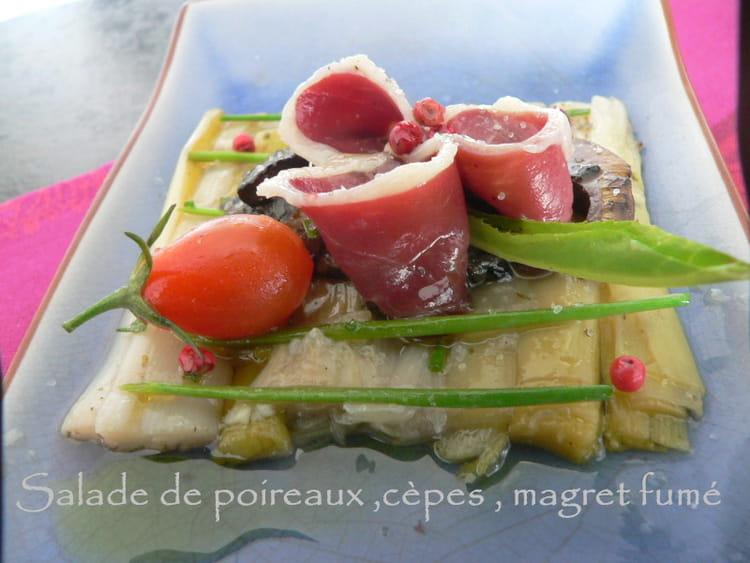 recette de salade de poireaux c pes magret de canard fum la recette facile. Black Bedroom Furniture Sets. Home Design Ideas
