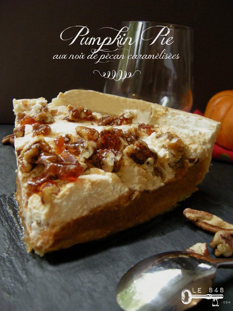 recette de pumpkin pie aux noix de p can caram lis es la. Black Bedroom Furniture Sets. Home Design Ideas