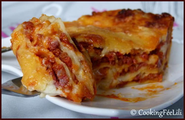 recette de lasagnes la bolognaise conomiques la recette facile. Black Bedroom Furniture Sets. Home Design Ideas