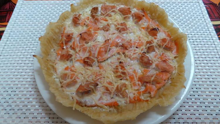 recette de tarte aux 2 saumons la recette facile. Black Bedroom Furniture Sets. Home Design Ideas