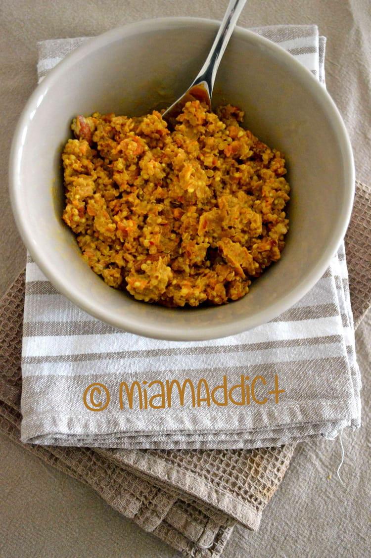 recette de curry de lentilles quinoa et carottes aux amandes la recette facile. Black Bedroom Furniture Sets. Home Design Ideas