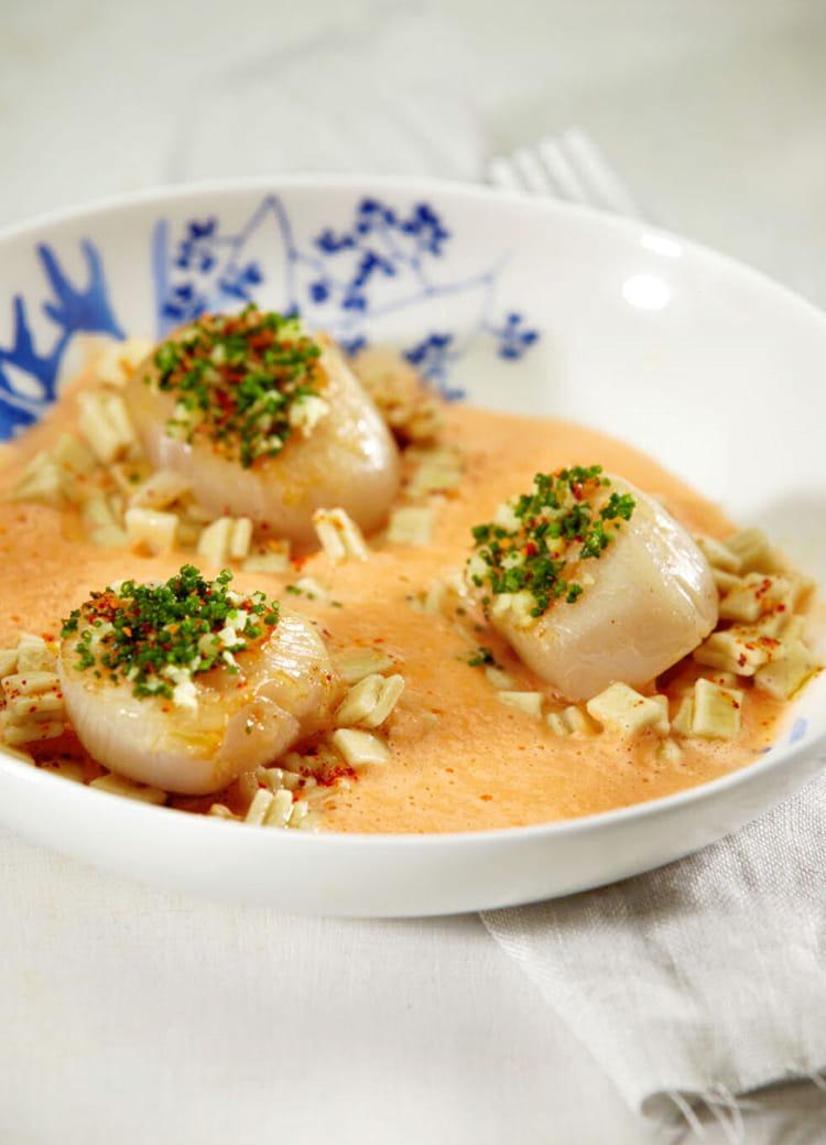 Recette de noix de saint jacques de la baie de st brieuc aux crozets de savoie la recette facile - Cuisiner les noix de saint jacques ...