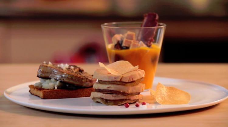 recette de foie gras po l pur e de topinambours sur pain d 39 pices velout de potimarron. Black Bedroom Furniture Sets. Home Design Ideas