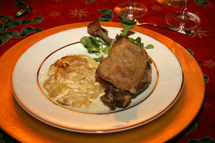Recette de cuisses de canards confites gratin de poires - Recette de cuisse de canard ...