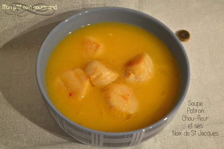 recette de soupe au potiron chou fleur et noix de st. Black Bedroom Furniture Sets. Home Design Ideas
