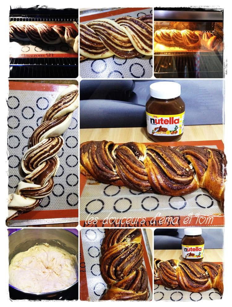 recette de tresse brioch 233 e au nutella la recette facile