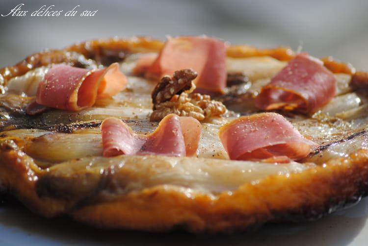 Recette de tatin d 39 endives au jambon des cevennes et noix la recette facile - Recette endives au jambon ...