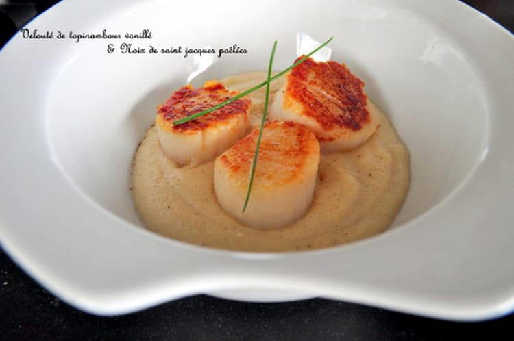 Recette de velout de topinambour vanill saint jacques - Cuisiner des topinambours ...