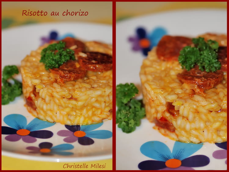 recette risotto au chorizo risotto. Black Bedroom Furniture Sets. Home Design Ideas