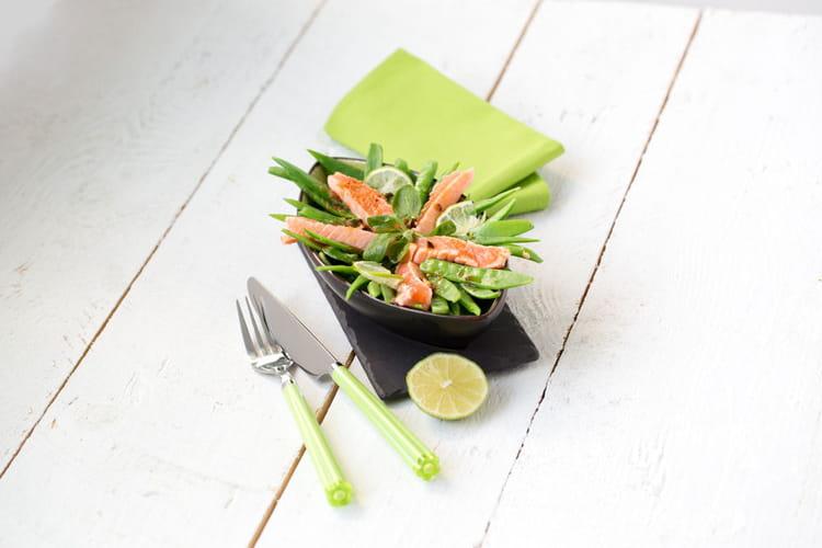 Recette de salade de pois gourmands la truite sauce - Cuisiner des pois gourmands ...