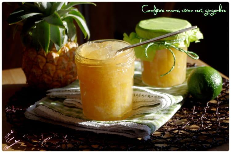 recette de confiture ananas citron vert et gingembre la recette facile. Black Bedroom Furniture Sets. Home Design Ideas